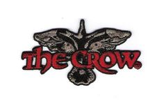 The Crow Movie Logo Embroidered Patch, NEW UNUSED #Patch