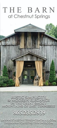The Barn at Chestnut Springs is a beautiful place to get married in the Smoky Mountains!