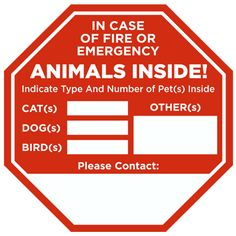 In Case Of Fire Animals Inside Sticker Dog Shots Animals Dogs