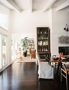Breezy space with high vaulted ceilings