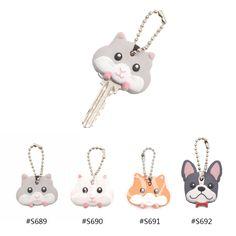 1 Pc Lovely Mouse Hamster French Bulldog Key Cover Cap Keychain Keyring Gift New  | eBay