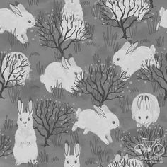 Winter Bunnies by Francesca Buchko