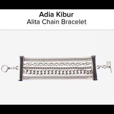 Adia Kibur Multi Chain Bracelet NWOT SILVERTONE TOGGLE CLASP Adia Kibur Jewelry Bracelets