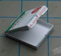 Free miniature printable // Pizza box