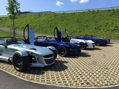 Departure time | Four Donkervoort D8 GTO's ready to roll at the German Donkervoort subsidiary at the Bilster Berg Drive Resort