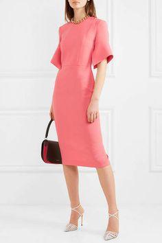 582e1fbfef074 Roland Mouret - Bancroft wool-crepe midi dress