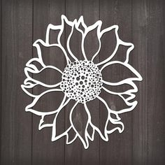 Sunflower Cricut Vinyl, Vinyl Decals, Car Decals, Sunflower Illustration, Flower Svg, Vinyl Designs, Shirt Designs, Vinyl Projects, Animal Drawings