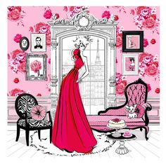 ILLUSTRATED INTERIORS FROM THE ICONSk OF STYLE (3)