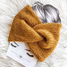 Diy Hair Accessories, Knitting Accessories, Crochet Winter, Knit Crochet, Knitted Headband, Knitted Hats, Ear Warmers, Double Knitting, Crochet Clothes