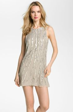 PARKER Sequined Embellished Silk Tank Dress Tan $295  http://hollyrotic.mybigcommerce.com/parker-sequined-embellished-silk-tank-dress-tan-295/