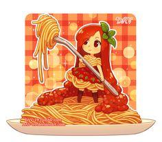 Spaghetti Bolognese by DAV-19.deviantart.com on @DeviantArt