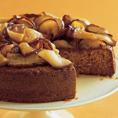Honey Cake with Caramelized Pears #MakeAhead #fall