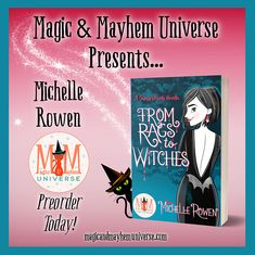 Vampires and witches and (super cute) magical shoes. Oh my! From Rags To Witches by Michelle Rowen is now available for preorder. #MagicMayhemUniverse #ebook #pnr #preorder