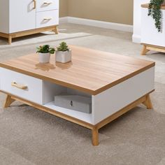 GFW Nordica 2 Drawer Coffee Table at Mattressman Living Room Candles, Living Room End Tables, Bedside Drawers, Storage Drawers, End Tables With Drawers, Shabby Chic Lamps, Bed Frame, Home Furniture, Living Spaces