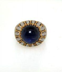 Gian Maria Buccellati 18k Gold, Diamond & Cabochon Sapphire