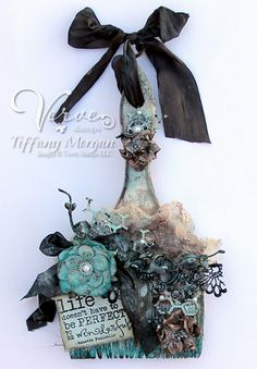 Altered brush by Tiffany Morgan using Words of Wisdom from Verve Stamps.  #vervestamps