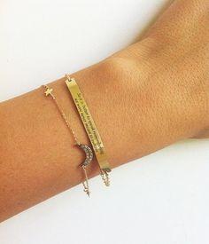 Graviertes Armband, Personalisiertes Armband von MinimalVS auf DaWanda.com