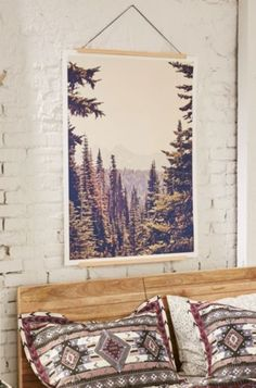 Kurt Rahn Mountains Through The Trees Art Print - Urban Outfitters