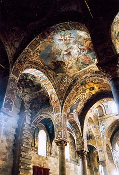 Santa Maria dell'Ammiraglio is a church located in Palermo. This is a very famous church in Palermo. Places Around The World, Oh The Places You'll Go, Places To Travel, Places To Visit, Around The Worlds, Travel Destinations, Beautiful Architecture, Beautiful Buildings, Art And Architecture