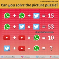 Social Icon Picture Math Puzzles For Genius | Test 4 Exams