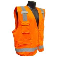 Radians Hi Vis Orange Surveyor Vest Class 2 SV7O | Hi Vis Safety Direct will beat any other price , we are #1 in Hi Visibility Items .