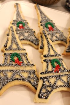 Eiffel Tower Cookies. #christmas