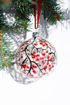 #Christmas #Ornaments Hand Painted Glass Ornaments by #Vitraaze