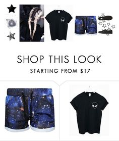 """Somewhere In The Galaxy."" by katelyn-style ❤ liked on Polyvore featuring WithChic and Vans"