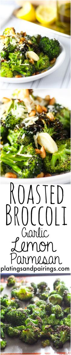 Roasted Broccoli with Lemon, Garlic & Parmesan #healthy #lowcarb