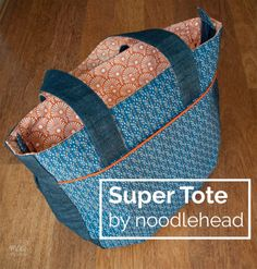 My new favourite bag: the super tote by Noodlehead - MaaiDesign