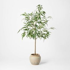 "73"" Artificial Weeping Eucalyptus Tree In Pot - Threshold™ : Target"