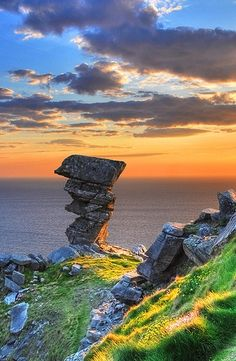Hag's Head, The Burren, County Clare.  Hope no crazy Boy Scouts topple this one!