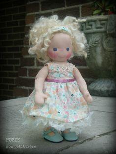 """Posie- An 8.5"""" Petite Fleur style doll by Mon Petit Frère"""