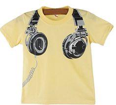 PHOTNO Boy Kids Summer Casual Short Sleeve Tops Blouses T...