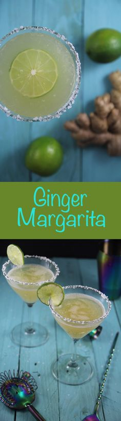 Sweet and spicy ginger margarita recipe that's perfect for the weekend! | nakedsunflower.com