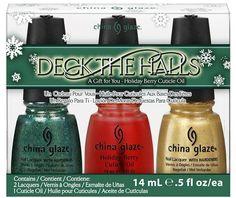 CHINA GLAZE DECK THE HALLS GIFT SET- HOLIDAY 2011