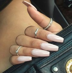 Nude Squoval Acrylic Nails