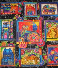 Beautiful Cat Fabric by Laurel Burch.  Now available...Yeah!