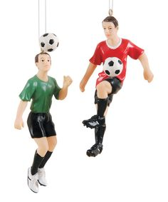 Look at this Soccer Action Ornament Set on #zulily today!