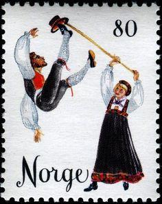 1976 Noruega-Bailes Populares-Danza de Hallingdal
