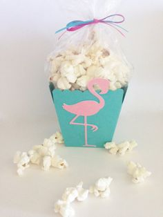 flamingo popcorn favor box flamingo treat box letu0027s flamingle party decor luau party