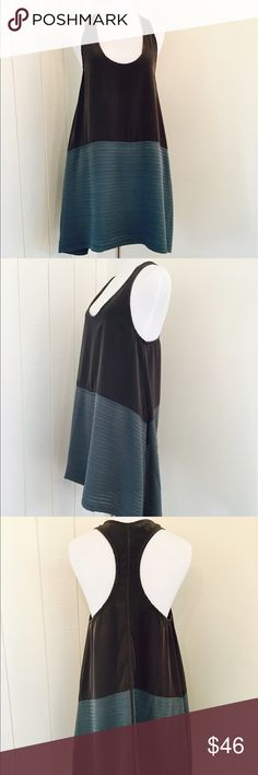 """RAG & BONE 100% Silk Racer Back Top Dress In great condition. Two tones of gray and dark gun metal teal blue on the bottom. This top / dress has a variety of uses. Great with jeans or over leggings. Also great as a short summer dress.  31"""" Front length 33"""" Back Length  Please email me with questions. rag & bone Dresses"""