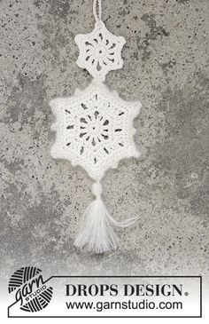 Shooting Star #crochet #christmas decoration by DROPS Design. Free Pattern