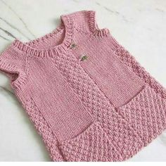 65 Different Models Of Baby Baby Boy Vest, Baby Cardigan, Knit Cardigan Pattern, Knitted Poncho, Baby Knitting Patterns, Free Knitting, Girls Knitted Dress, Baby Dress Design, Knitwear Fashion