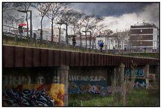 El #puente de #Ripollet en un día de #lluvia @Juan Ruiz