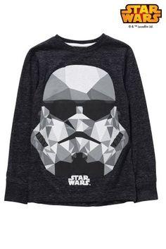 Star Wars Boys Long Sleeves Hooded Gown Stormtrooper Print Comfort Size 8-14