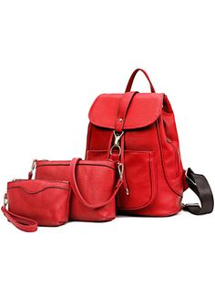 Shop Embossed Faux Leather 3PCS Bag Set - Red online. SheIn offers Embossed Faux Leather 3PCS Bag Set - Red & more to fit your fashionable needs.