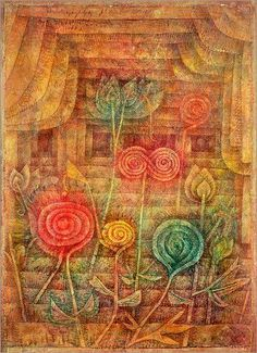 Global Gallery 'Spiral Flowers' by Paul Klee Painting Print on Wrapped Canvas Size: Paul Klee, Painting Edges, Painting Frames, Painting Prints, Art Prints, Wassily Kandinsky, James Ensor, Flower Canvas Art, Stretched Canvas Prints