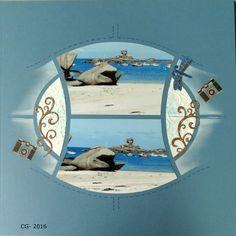 """Page réalisée avec le tout nouveau et tout beau Azza scrap """"Carnet de voyage """"!!! Il est composé de: - pages de différentes couleurs - d'un gabarit - de croquis - d'un grand pochoir - d'une planche de figurines"""