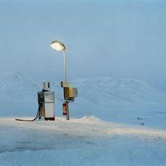Christian Houge   Gasoline Pump in Moonlight, Barentsburg, Spitsbergen   Archival pigment print   www.artistics.com...    #Art #ContemporaryArt #Artist #ArtWork #Photography #Landscape #Winter #Artistics #ArtisticsGallery